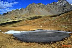 Frozen lake (jibbajambs) Tags: italy mountain alps frozen nikon alpina via franz valtellina passo grosio valgrosina verva 500px ifttt