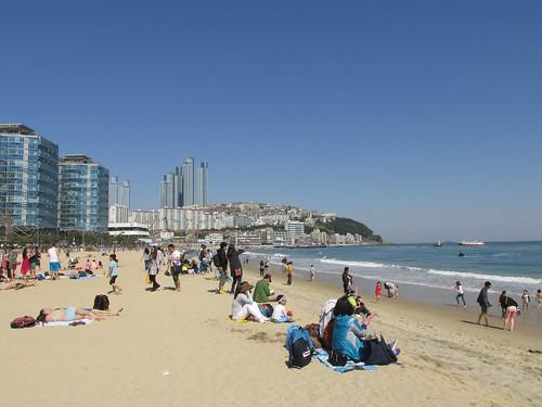 Haeundae Beach, Busan, Corée du Sud