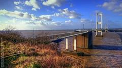 Severn Bridge (AreKev) Tags: severnbridge severn bridge m48 motorway aust bristolchannel severnestuary riversevern southgloucestershire england uk sonyxperiaz3 sony xperia z3 mobilephone mobile phone tonemapped