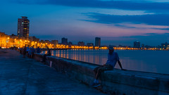 Malecon Twilight (wbeem) Tags: sunset clouds relax harbor spring twilight nikon cityscape havana cuba malecon caribbean beem nikonnikkor d700 wbeem 2470mmf28g williambeem