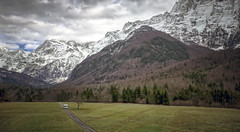 Living in Motion with Adria Mobil at Log pod Mangartom, Slovenia (Iztok Alf Kurnik) Tags: park travel winter snow mountains nature clouds forest landscape nationalpark day postcard sonic machinery slovenia nationa