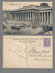 PARIS - La Bourse (bDom) Tags: paris 1900 oldpostcard cartepostale bdom