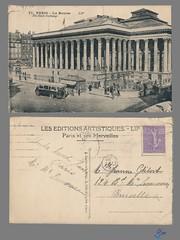 PARIS - La Bourse (bDom [+ 3 Mio views - + 40K images/photos]) Tags: paris 1900 oldpostcard cartepostale bdom
