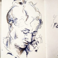 Evening sketch eurostar #eurostar  #artistsharing #tatechallenge #portrait (London_Sketches) Tags: portrait illustration underground square eurostar drawing tube squareformat iphoneography instagramapp uploaded:by=instagram tflart