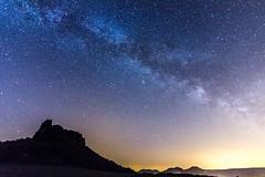 """Milkey Way over the """"Lilienstein"""" II (DA Foto) Tags: nature night stars nacht saxony natur sachsen stern milkyway lilienstein milchstrase"""