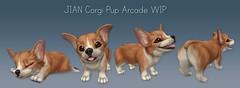 JIAN Corgi Pups WIP ([JIAN]) Tags: pet puppy corgi pups mesh wip secondlife jian gacha thearcade