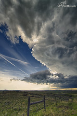 Montana Supercell (Gavmonster) Tags: summer sky usa storm rain weather clouds america fence landscape nikon montana unitedstates wind wideangle land thunderstorm busby thunder stormchasing supercell stormchaser 1024mm d7000 nikond7000 gswphotography northcheyenneindianreservation
