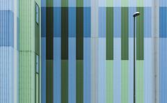 Streifen (tan.ja1212) Tags: street blue green lamp lampe hall factory fabrik grn blau halle strips streifen strasenlaterne