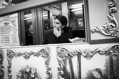 Florence I Italy (Javier Zapatero) Tags: street portrait blackandwhite italy photography florence blackwhite italia fuji candid streetphotography carousel florencia firenze streetphoto fotografia giostra tiovivo carrusel urbanphotography candidportrait callejera caballitos xt1 zapaphoto