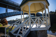 Victoria Bridge and Rotunda (Spark-Photo) Tags: bright riverbank contrejour victoriabridge intothesun waikatoriver