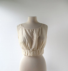 Edwardian cream silk camisole with lace trim (Small Earth Vintage) Tags: 1920s lace cream silk lingerie 1910s edwardian camisole vintageclothing vintagefashion womensfashion corsetcover