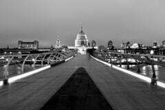 ST Paul (JCRM6) Tags: city uk england london church cathedral stpaul millenniumbridge nightlight nightshooting longexpossure