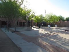 Back Entrance Plaza at Scottsdale Stadium -- Scottsdale, AZ, March 08, 2016 (baseballoogie) Tags: arizona baseball stadium az giants scottsdale ballpark springtraining sanfranciscogiants cactusleague baseballpark scottsdalestadium 030816 canonpowershotsx30is baseball16