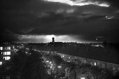 Dark Sky over Munich (robertpurkarthofer) Tags: sky panorama black rain dark munich mnchen sony 7 s pan alpha thunder schwarz bwblackandwhite weis schwarzweis a7s