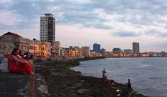 Sunset on the Malecn -  Havana (-AX-) Tags: mer skyline havana cuba personnes malecn btimentimmeuble