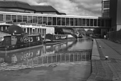Two Boats Trip (Joe Thabet) Tags: white monochrome outdoor river refelection black boat canal ropes tunnel windows glass gloss small dome