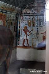 Thutmose III on a chapel wall (konde) Tags: statue museum ancient goddess chapel frieze cairo limestone 18thdynasty hieroglyphs thebes amon cartouche hathor deirelbahri thutmoseiii newkingdom mortuarytemple tuthmose khekeru
