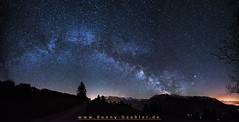 Milchstrae_Panorama (Ronny Gbler) Tags: blue light sky mountain beautiful night dark way stars photography lights long exposure nightscape nacht himmel berge milky langzeitbelichtung milchstrase