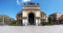 Piazza Castelnuovo (focusyx) Tags: italy square theater front sicily palermo garibaldi frontage politeama