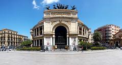 Piazza Politeama (focusyx) Tags: italy square theater front sicily palermo garibaldi frontage politeama