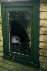 Safety First (Cruseon) Tags: film window glass fuji farm nz helmit asa200 shead schneiderkreuznach diax