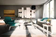 Living interieur 5 (Martin-Klein) Tags: living 3d cg dof bokeh interieur visualisation