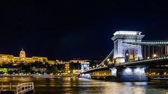 Fantastic Danube!! (DanielSan_05) Tags: city longexposure bridge urban castle river boats photography lights nikon hungary cityscape budapest trails chain hour danube iluminations d5100