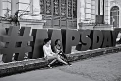 Serious mother, smiley daughter (fcribari) Tags: street brazil blackandwhite bw monochrome brasil streetphotography fujifilm streetphoto recife pretoebranco pernambuco 2016 fotografiaderua x100t