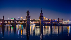 Oberbaumbrcke in Berlin (Andys-eyecatcher) Tags: instagramapp nature art canon europe travel square photography flickr city new geo landscape cityscape detail uww me longtimeexposure night light berlin