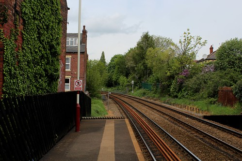 Burley Park Station looking North West
