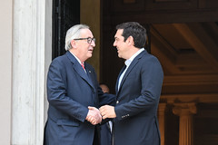 GREECE-ATHENS-POLITICS (X-Andra) Tags: ec eu grreek maximos alexis athens commission europe european greece jeanclaude juncker mansion meeting minister politician politics president prime tsipras attica grc