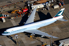 Cathay Pacific Cargo Boeing 747-867F B-LJM (Mark Harris photography) Tags: seattle plane canon aircraft aviation spotting