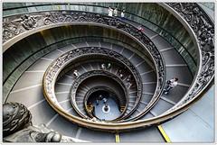 Roma / Rome (drasphotography) Tags: italien italy rome roma geometric architecture stairs nikon italia angle geometry wide stairway treppe staircase architektur ww rom vatikan geometrie museen vatikanstadt geometrisch vatikanische d7k nikond7000 drasphotography