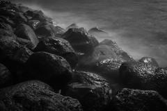 Long exposure rocks #2 of 2 (' A r t ') Tags: longexposure sea blackandwhite bw water monochrome copenhagen denmark mono movement rocks raw outdoor foggy highlight cammelbeeck arthurcammelbeeck artcammelbeeck wwwflickrcomphotosartcammelbeeck camelendk