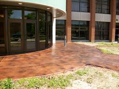 Entryway - Texture & Stain (Decorative Concrete Kingdom) Tags: brown texture stain entryway smiths