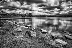 Hollingworth 9 (PixellMate) Tags: sky lake monochrome clouds landscape reservoir 12mm hollingworthlake littleborough samyang
