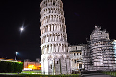 Leaning Tower of Pisa 2 (chriswalts) Tags: travel sunset italy streets tower night pisa leaning