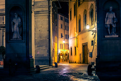 Florence at night (Arutemu) Tags: europe eu italy italia italien italian cityscape city ciudad citylights urban toscana tuscany florence firenze scene scenic street night nighttime nightscape nightshot nightstreet nightview travel renaissance medieval