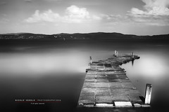Lago Trasimeno (Nicol Vedele) Tags: bw black del canon lago blackwhite big mark ponte ii lee nd 5d trasimeno stopper castiglione