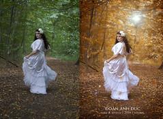 LaEsmeralda (AnhDucArt) Tags: fantasy tll kleider blumen wald outdoor rosa barock liegend oktober makeup