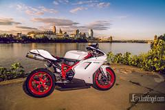 Geoff's Ducati 848 Evo 2 (JoshEngelPhotography) Tags: sunset sky bike skyline clouds photography cincinnati motorcycles josh motorcycle engel ducati because evo 848 becausemotorcycle
