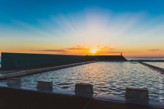 Newcastle Ocean Baths - Sunrise (Brett VonHoldt Photographer) Tags: ocean pool sunrise newcastle landscape australia nsw oceanbaths