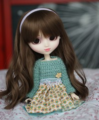 Summer sweater (Sarah Boude) Tags: holiday cute doll princess roman crochet audrey ann groove pullip custom hepburn poupe fmd rewigged formydoll