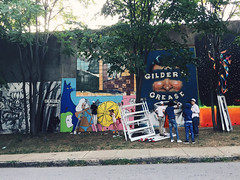 164/366 (moke076) Tags: street atlanta people art oneaday mobile project painting georgia mural random cellphone cell photoaday warrior 365 painters cabbagetown forward iphone 2016 366 project365 365project project366 vsco vscocam gildersgrease
