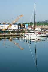 Reflection (grasso.gino) Tags: italien italy reflection port boot boat nikon italia harbour hafen spiegelung marche marken fano d5200