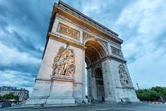 Arc de Triomphe from down below (airfang) Tags: paris france ledefrance fr arcdetriomphe
