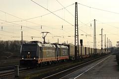 """Hectorrail 241.012 """"Chewbacca""""+Hectorrail 241.009 """"Moneypenny"""" am 13.03.2015 mit einem KLV in Haltern am See (Eisenbahner101) Tags: hectorrail 241012 241009 moneypenny chewbacca klv haltern am see gterzug"""