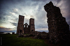 Reculver Towers (JennTurner) Tags: sky building water abbey clouds canon reflections evening kent ruin coastal 6d reculver samyang