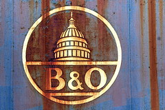 B&O. (Joseph Skompski) Tags: old railroad signs sign train vintage rust antique rusty maryland trains baltimore bo antiques oldfashioned railroadmuseum baltimoremd borailroadmuseum borailroad