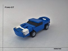 Ford GT 4-Wide (Fictitious Pasta) Tags: cars ford lego micro gt legogt legoford